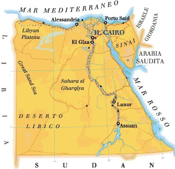 Cartina Africa Egitto.Mappa Egitto Cartina