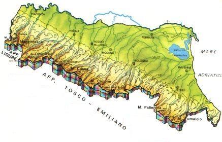 Emilia Romagna Cartina Province.Mappa Emilia Romagna Cartina