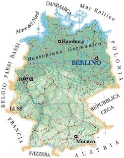 Cartina Muta Germania Con Fiumi.Cartina Germania Italia