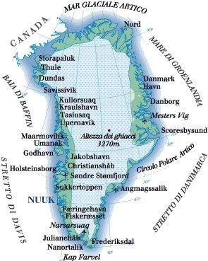Cartina Geografica Della Groenlandia.Mappa Groenlandia Cartina