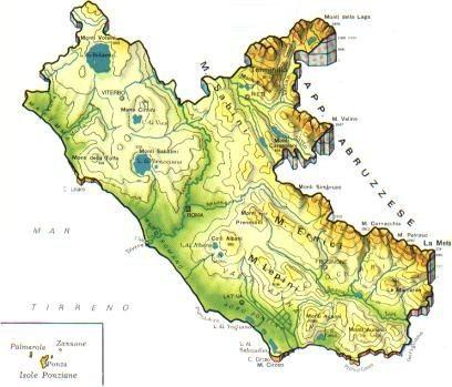 Cartina Lazio.Mappa Lazio Cartina