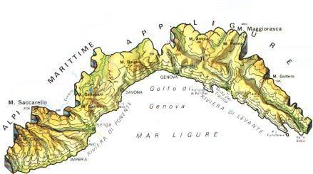 Province Della Liguria Cartina.Mappa Liguria Cartina