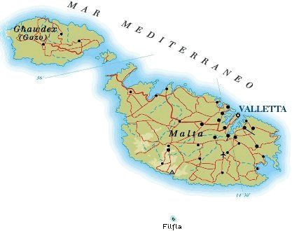 Malta Cartina Stradale.Mappa Malta Cartina