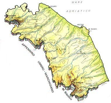 Marche Cartina Province.Mappa Marche Cartina
