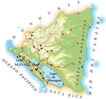 Cartina Geografica Nicaragua.Mappa Nicaragua Cartina