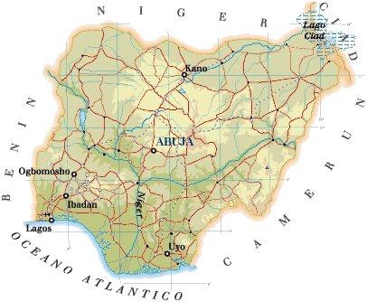Mappa Nigeria Cartina