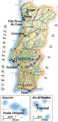 Cartina Del Portogallo Da Stampare.Mappa Portogallo Cartina