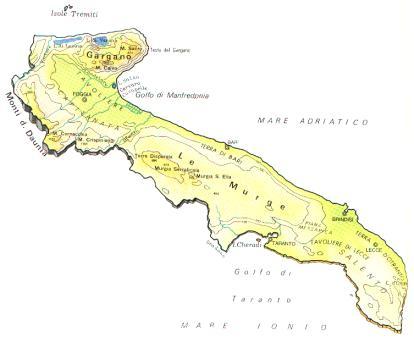 Cartina Muta Puglia.Province Puglia Cartina