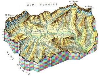 Mappa Valle d'-Aosta Cartina