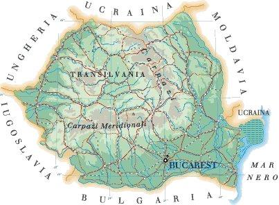 Transilvania Romania Cartina.Mappa Romania Cartina