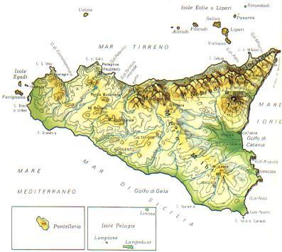 Cartina Sicilia Province.Mappa Sicilia Cartina
