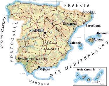 Cartina Spagna Benicassim.Mappa Spagna Cartina
