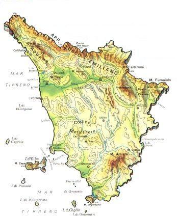 Www Cartina Toscana.Mappa Toscana Cartina