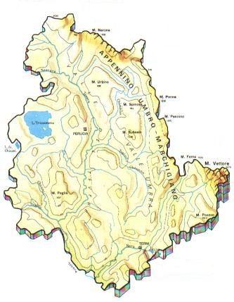 Umbria Cartina Italia.Mappa Umbria Cartina